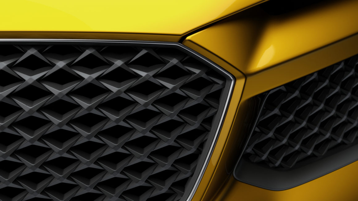 Audi Sport Quattro grille closeup